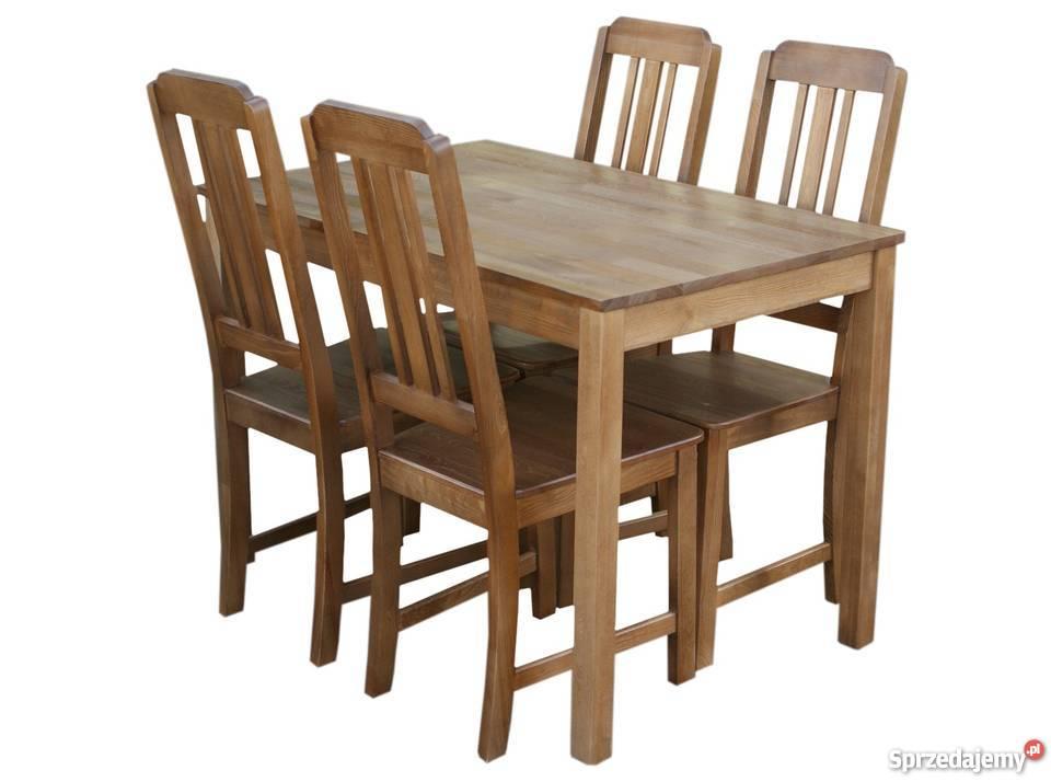 Tanie Krzesła I Stół Do Kuchni Restauracji Nowe Sosnowe Drew
