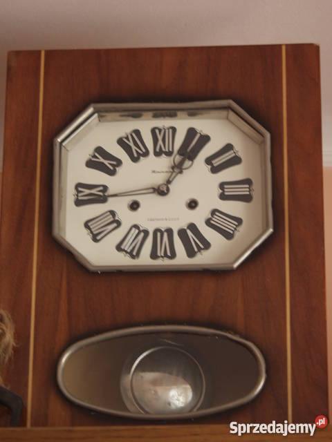Stary Zegar Drewniany Z Wahadłem I Inne