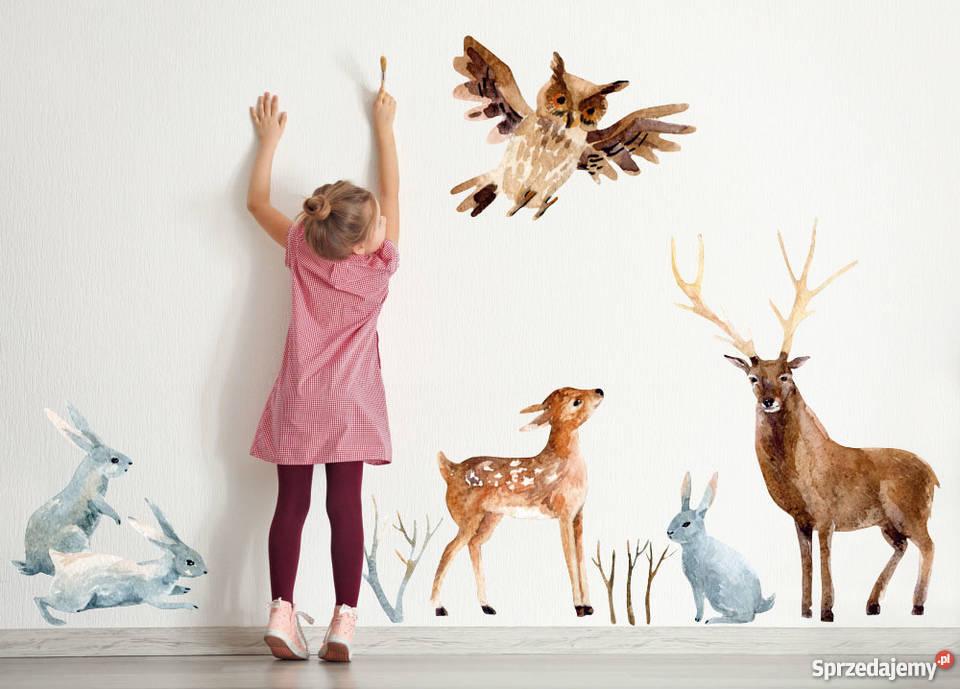 Naklejka Na ścianę Dla Dzieci Leśne Zwierzęta Boho łódź Sprzedajemypl