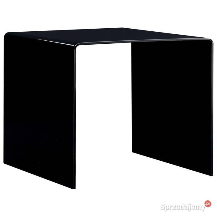 vidaXL Stolik kawowy, czarny, 50 x 50 x 45 cm, 284723