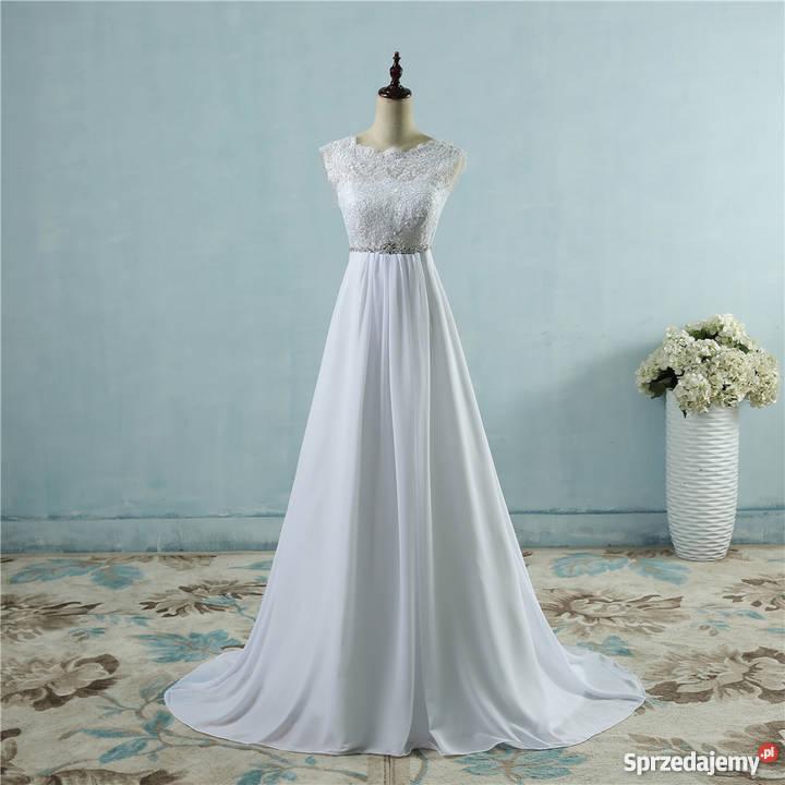 Suknia ślubna Ciążowa 3638 404244 46 46w 48w 50 52 Jelenia