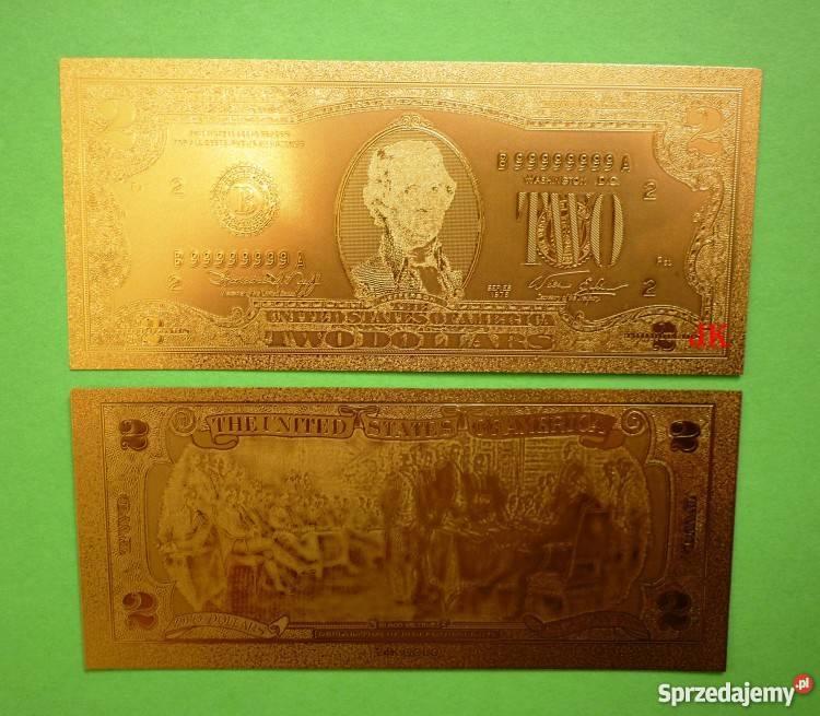 السعر 200 100 Dolar: ZŁOTY BANKNOT ZESTAW 1 2 5 10 20 50 100 DOLAR ZŁOTE 24