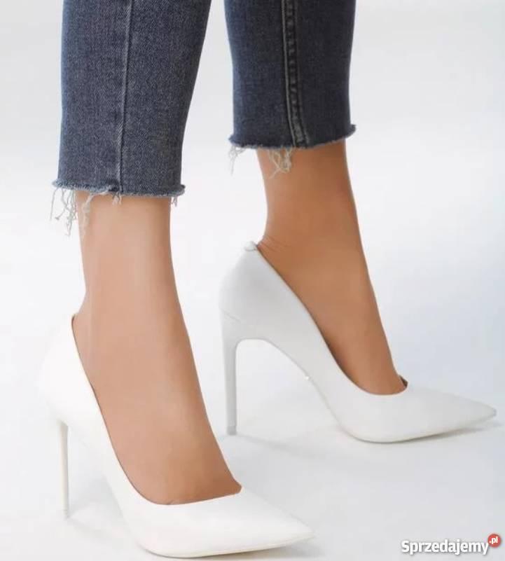 43b35524 buty białe szpilki - Sprzedajemy.pl