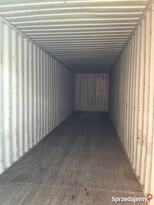 Magazynowy kontener morski 40HC 12 m podwyższany Malbork wyposażenie