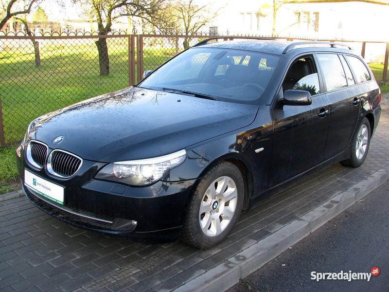 Nieuszkodzony BMW 525 E60 automatyczna skrzynia czarny Włocławek