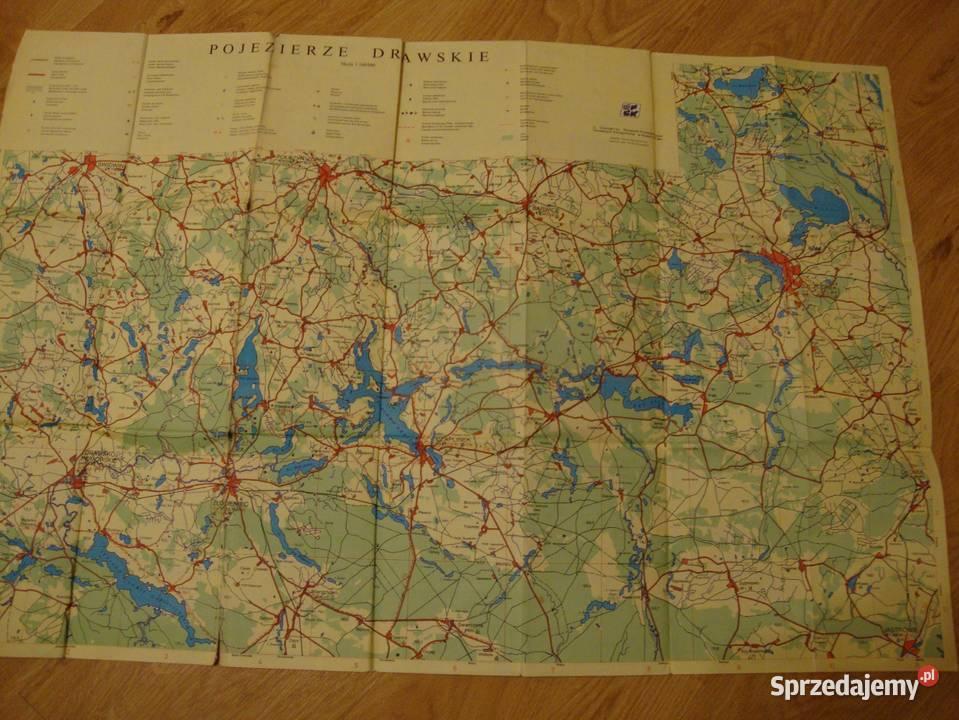 Polska Drawsko Pojezierze Mapa Turystyczna Mapa Przewod Nowa