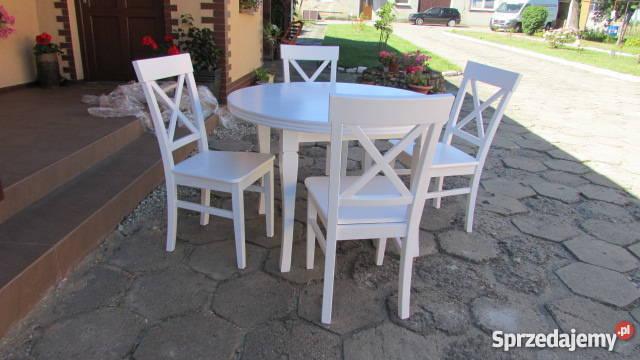 Okrągły Stół 10040 Krzesła 4szt Stół Z Krzesłami Biały