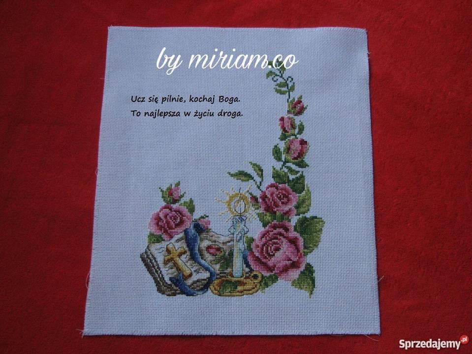 pamiątka komunia prezent haft obraz Czerwionka-Leszczyny sprzedam