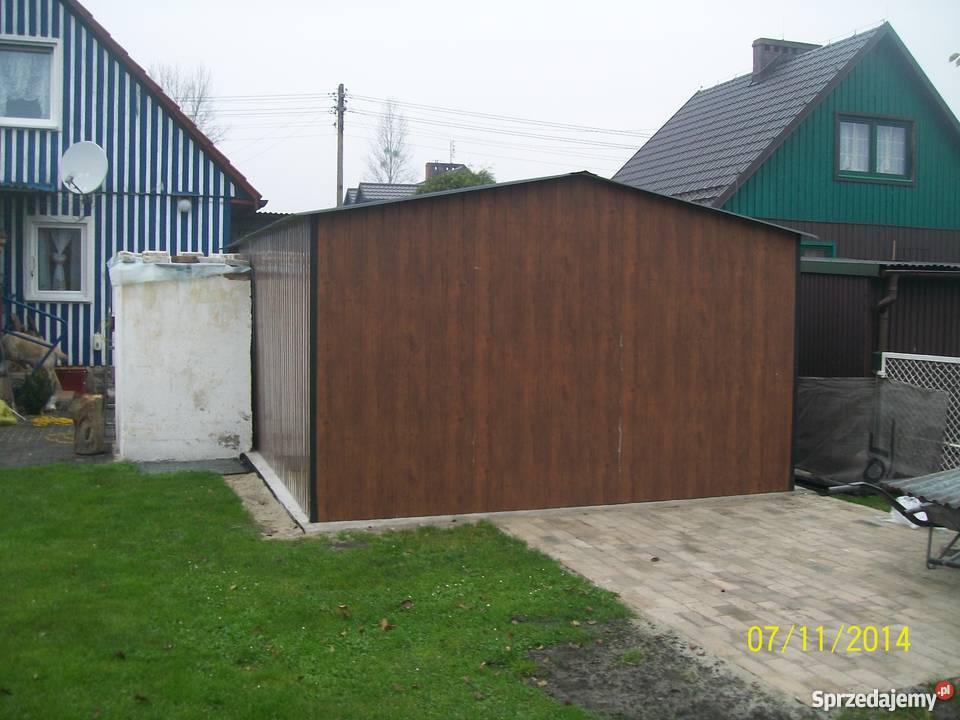 garaż blaszany 6x4 4x6 orzech złoty dąb małopolskie Limanowa