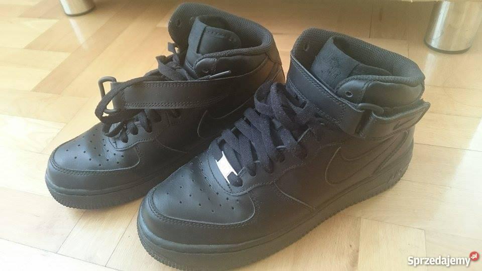 NIKE Air Force Mid 38 czarne sneakersy