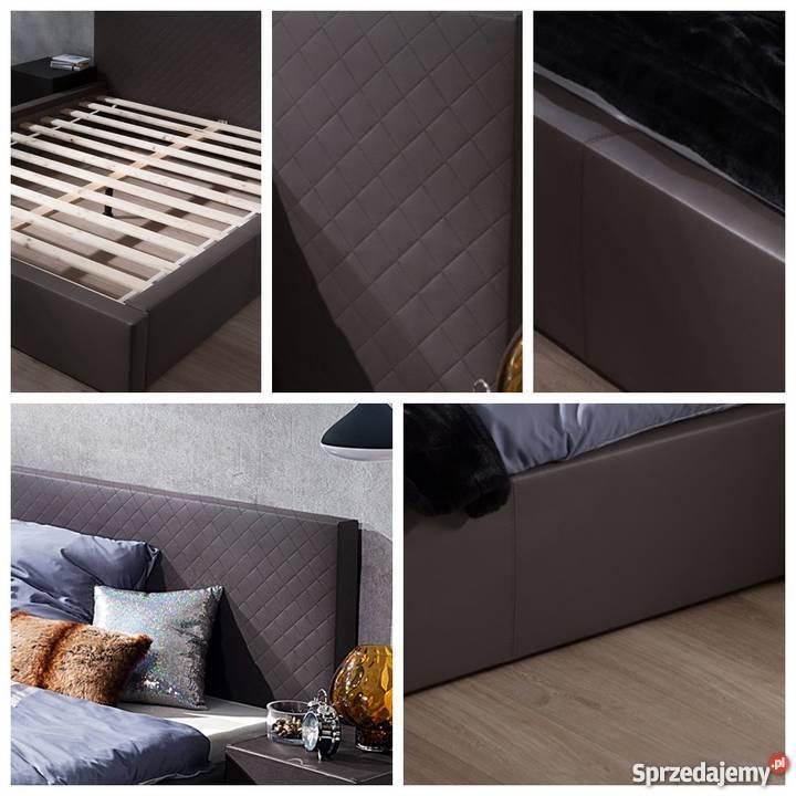 Nowoczesne łóżko Kontynentalne 160200 Tapicerowane