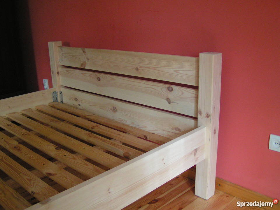 Solidne łóżko Drewniane Ze Stelażem Na Wymiar