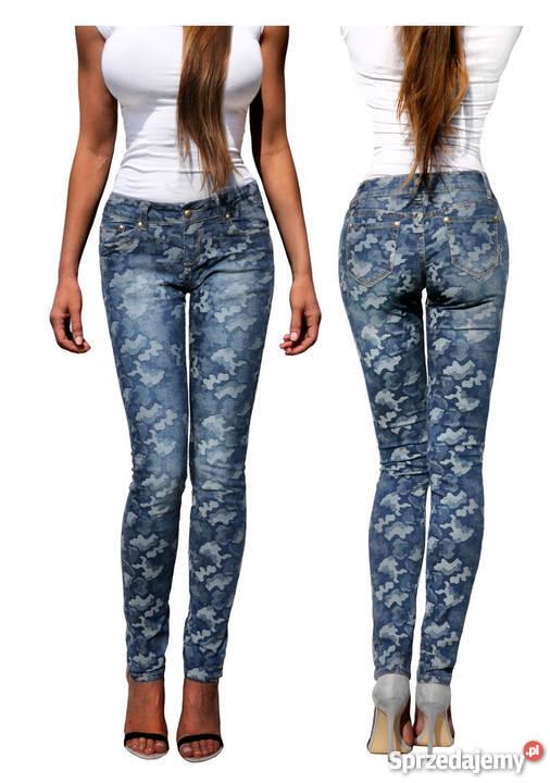 76ee626e Spodnie Damskie Jeans Moro Dopasowane Kobiece Rurki #296