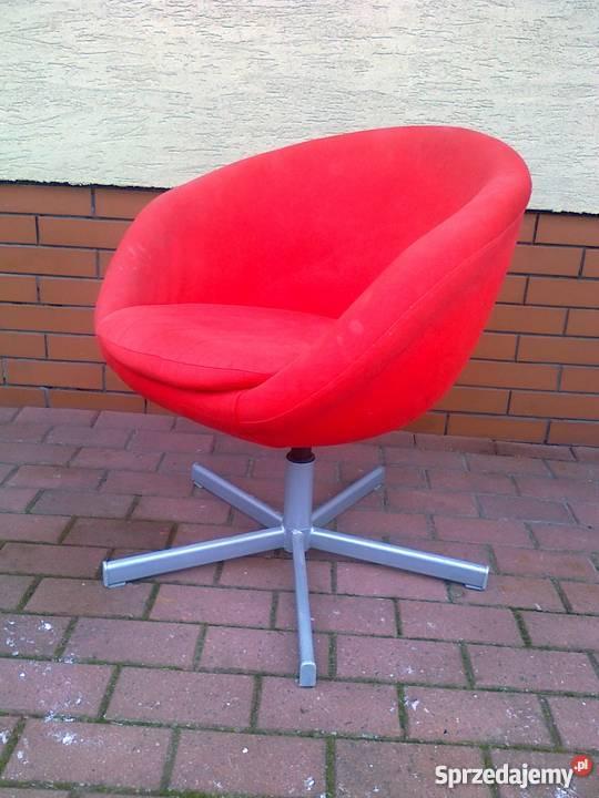 Krzesło obrotowe IKEA SKRUVSTA, czerwone fotel do biurko