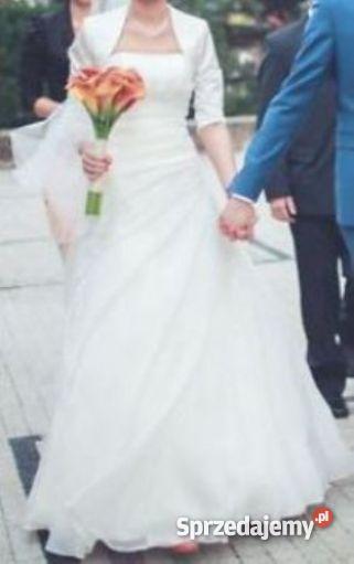 9d60269657 Sprzedam suknię ślubną + bolerko i długi welon GRATIS - Sprzedajemy.pl