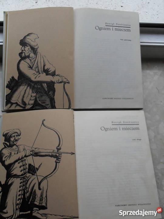 Ogniem i mieczem t 1 2 H Sienkiewicz Proza i poezja Warszawa