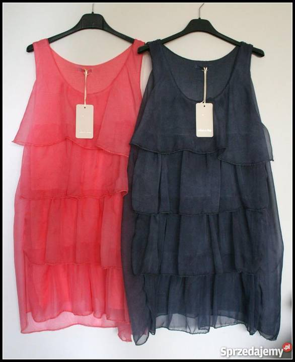 b4ca181747 Sukienki włoskie rozmiar UNI wyprzedaż 80