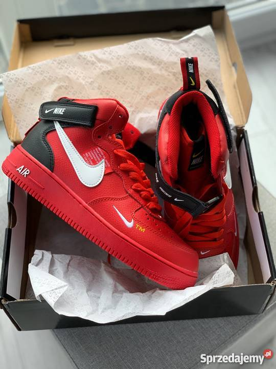 buty nike air force red