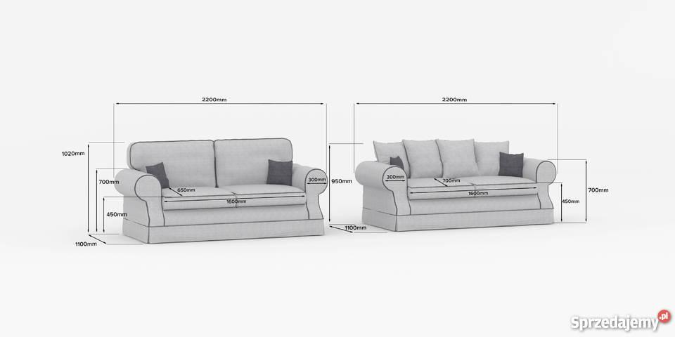 Elegancka wygodna praktyczna kanapa LEEDS 110cm Gniewkowo