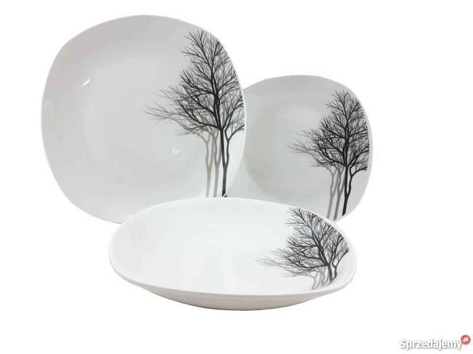 Serwis Obiadowy Porcelana Talerze 18 El Inverno Warszawa