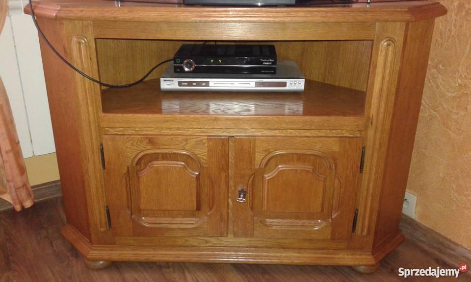 szafka pod TV dębowa