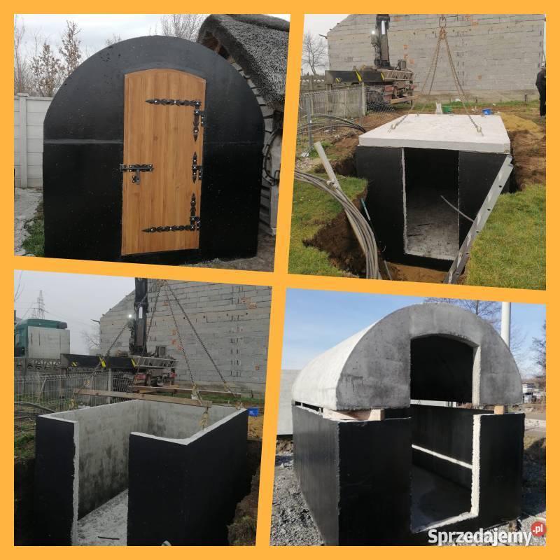 Piwniczki betonowe ziemianki ogrodowe