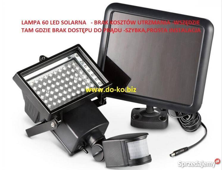 Lampa Solar 60 Ledczujnik Ruchuhalogen Solarnyprąd Darmo