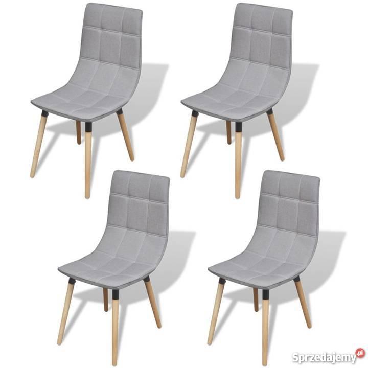 Vidaxl Krzesła Do Jadalni Jasno Szare 4 Szt 244153