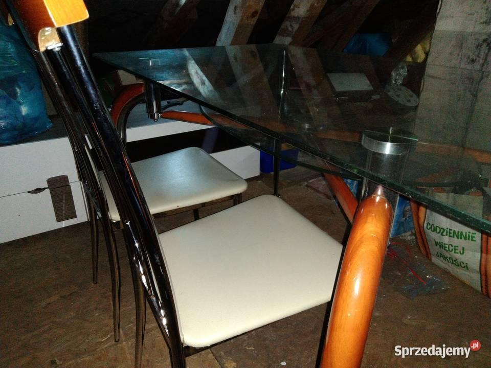 Stół szklany + krzesła