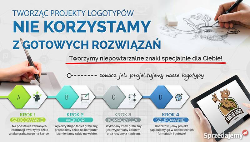 Profesjonalny artystyczny projekt graficzny logo Usługi informatyczne Lublin