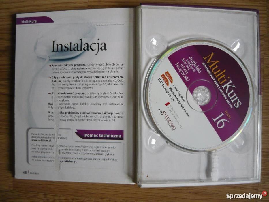 MULTIKURS 5 języków 10 książek z płytami Warszawa