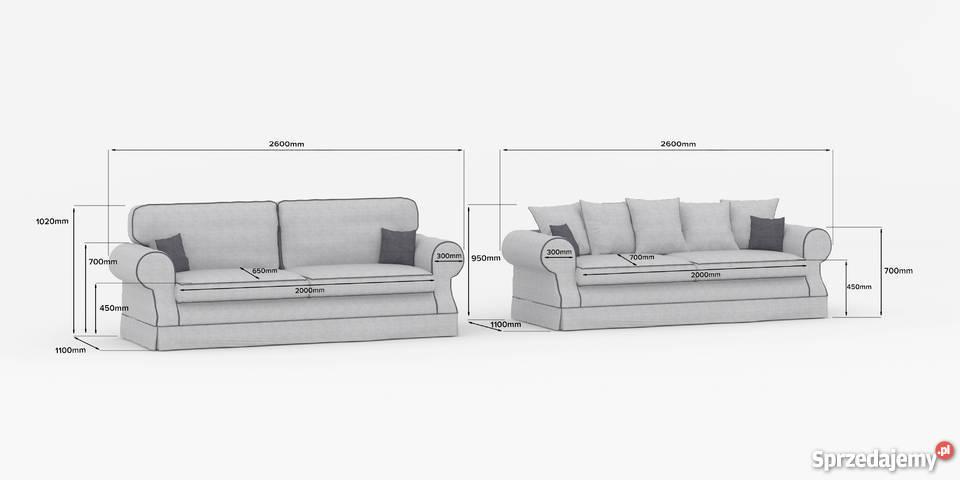 Elegancka wygodna praktyczna kanapa LEEDS Gniewkowo