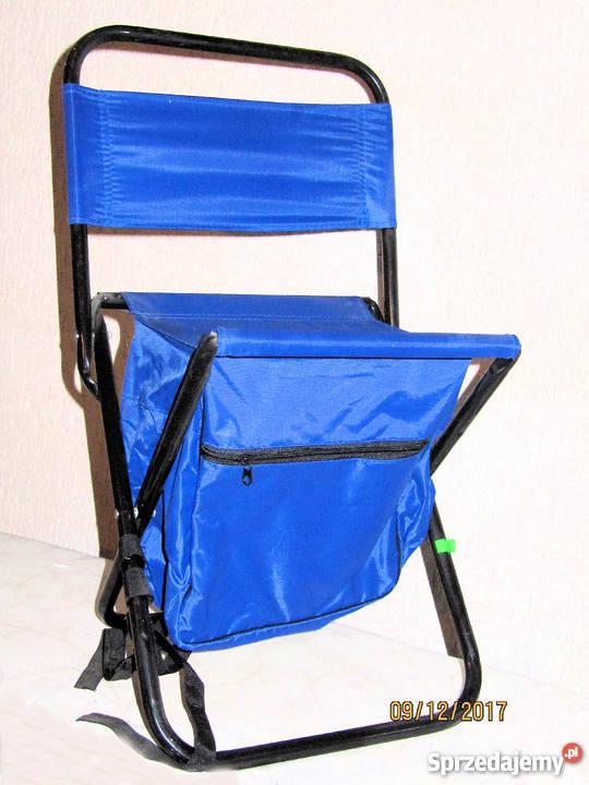 Krzesełko wędkarskie z oparciem i plecakiem Nysa