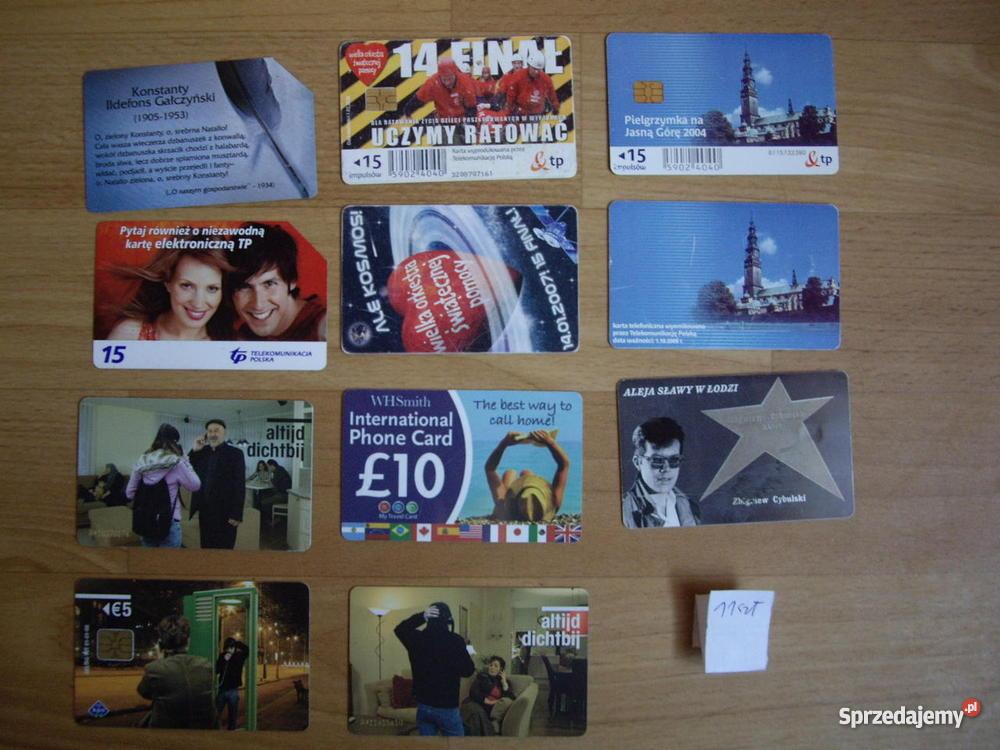 Karty telefoniczne chipowe śląskie sprzedam