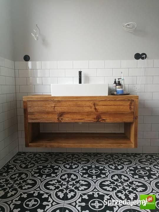 A może stare drewno w łazience? - Meble na wymiar - Alldeco