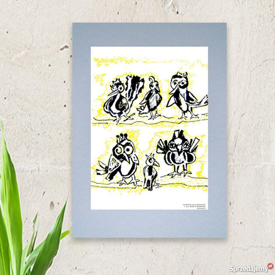 Fajny Plakat Do Pokojuplakat Z Ptaszkamiładny Plakat Ptaki
