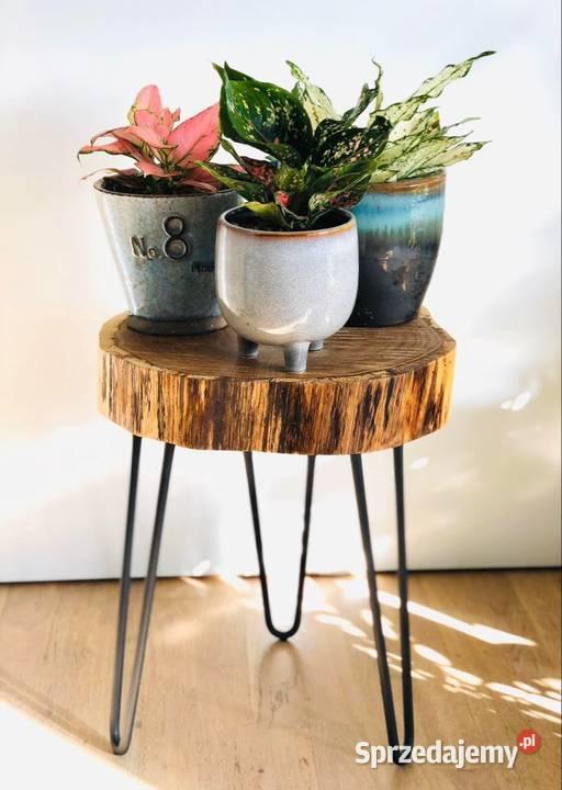 Stolik kawowy – dąb, loft industrial, hairpin legs