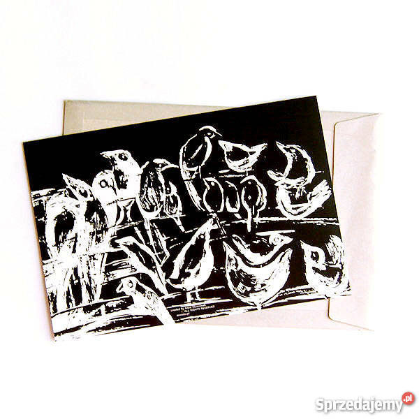 Czarno Biały Plakat Z Ptakami Biało Czarna Grafika Ptaszki