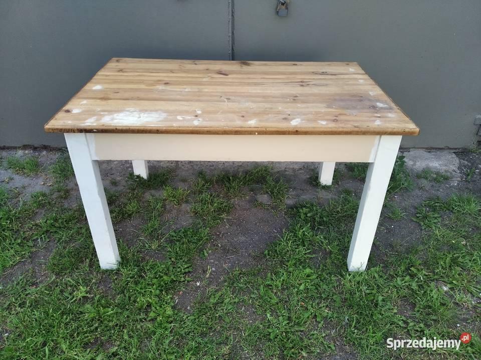OKAZJA Drewniany Stół Kuchenny Stół Roboczy