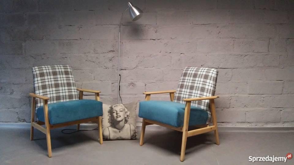 Fotel W Kratkę Prl Lata 50 60 70 Retro Loft Vintage