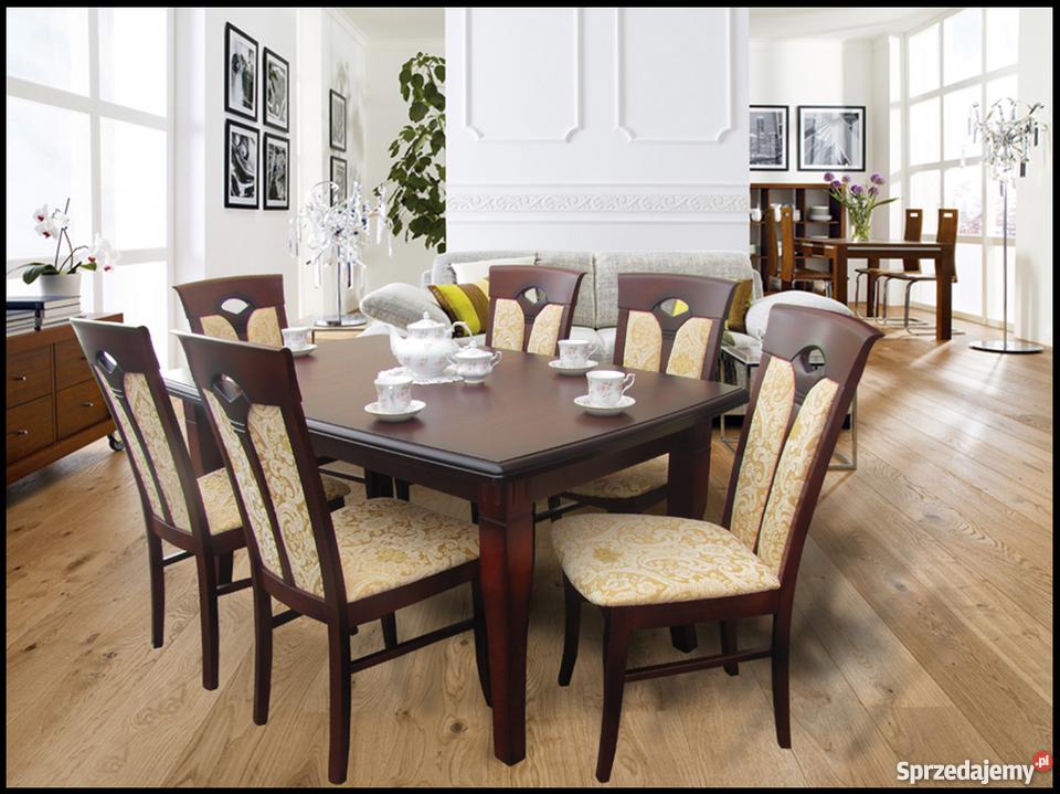 Nowoczesne modne krzesła tapicerowane do salonu jadalni