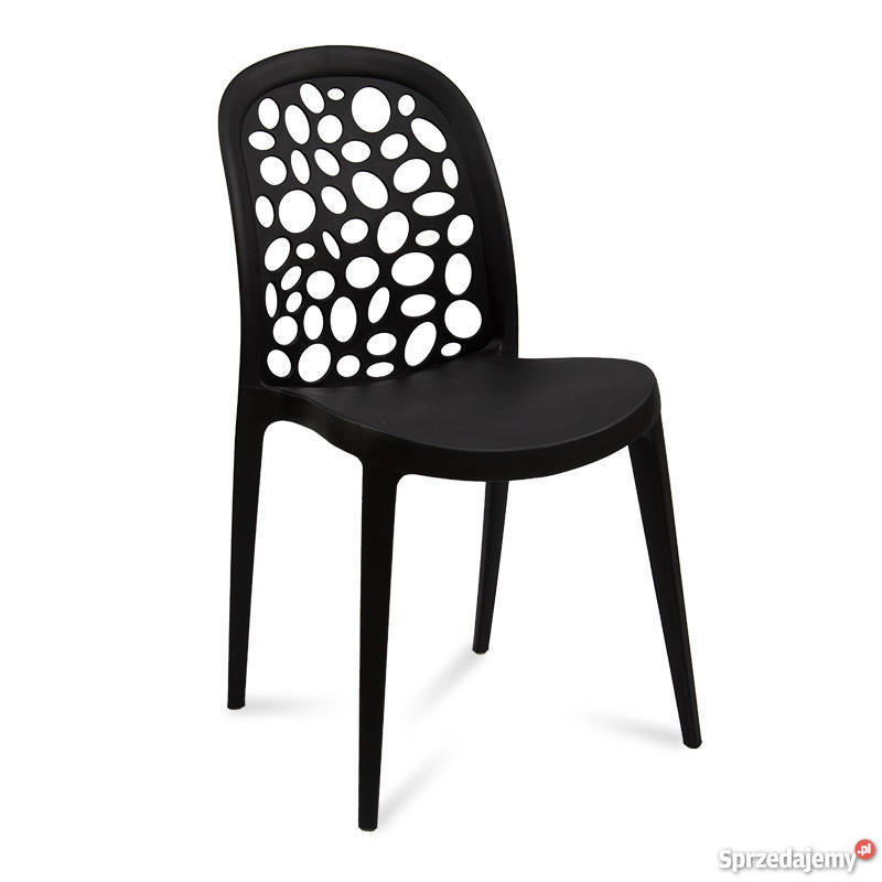 Krzesło czarne ażurowe Krapi 1
