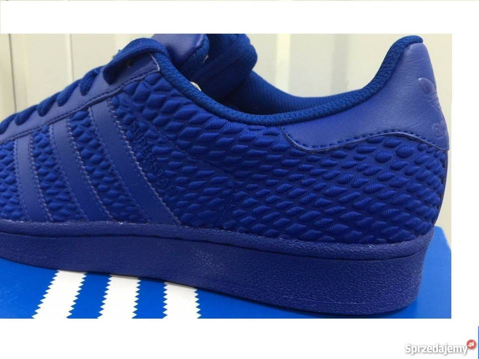 Piękne Adidas superstar ROYAL BLUE ! NOWE r. 44 44,5 28