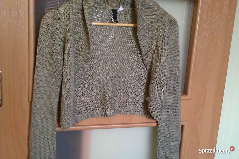 07cfbfa2 Sprzedam metalizowaną narzutkę / bolerko / sweter firmy NEW YORKER