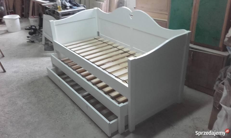 Łóżko piętrowe niskie 80x180 białe dziecięce