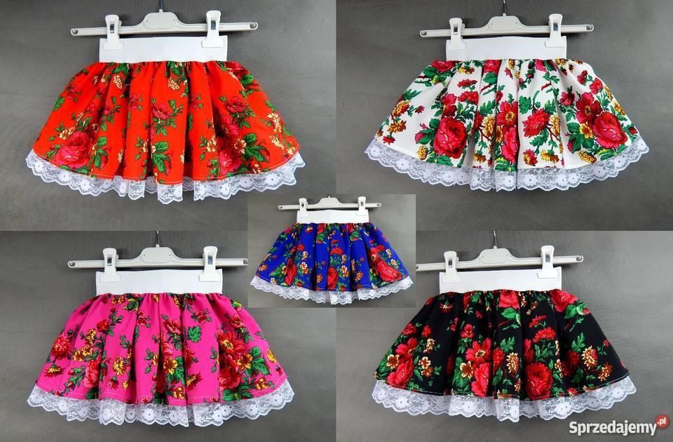 93bb8355 Spódniczka CLEO góralska spódnica tiulowa folkowa koronkowa
