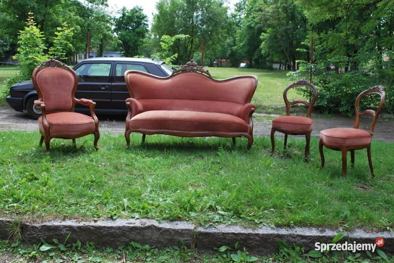Ludwik Filip Kanapa fotel dwa krzesła Olsztyn sprzedam