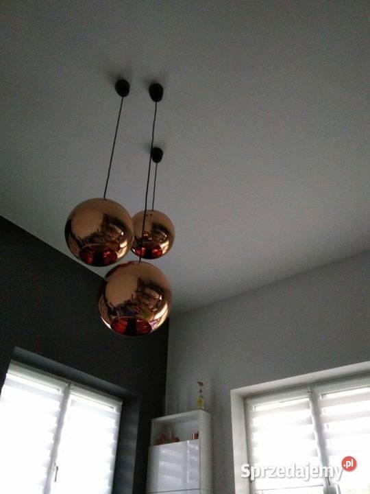 Lampa wisząca szklana kula 3 szt,