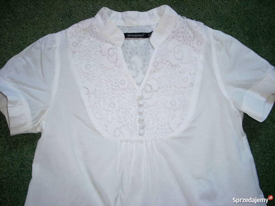 Atmosphere biała luźna koszula HAFTY 34 36 XS S Nowy Sącz  uTGKm
