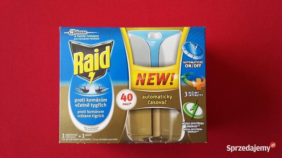 RAID NEW na komary Elektr. - automat timer 40 nocy RABAT